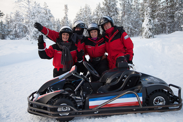 Karting on Ice / Snow Covered Track