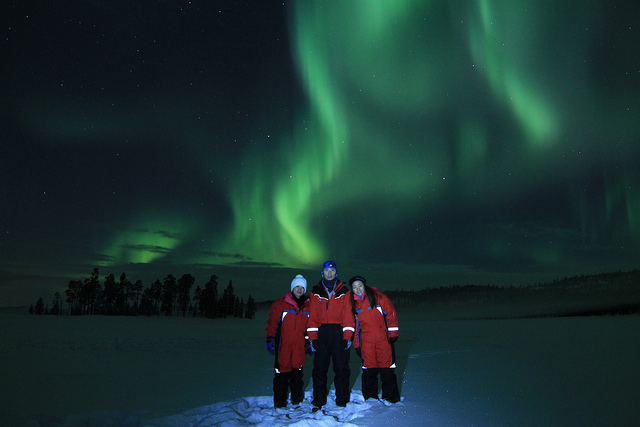 Snowmobile Safari to Search the Northern Lights